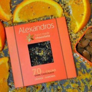 Σοκολάτα υγείας Πορτοκάλι Αμύγδαλα