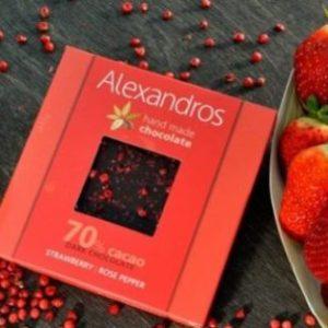 Σοκολάτα υγείας Φράουλα Ροζ πιπέρι
