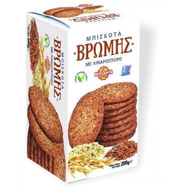 Μπισκότα Βρώμης με λιναρόσπορο