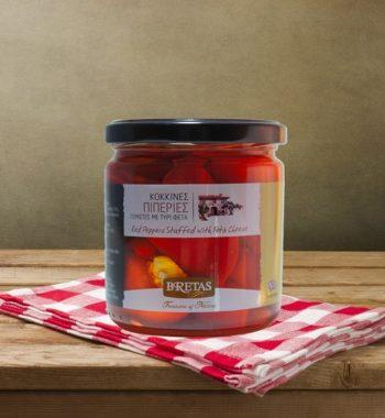Κόκκινες Πιπεριές γεμιστές με τυρί φέτα