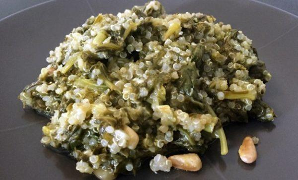 Σπανάκι λεμονάτο με Κινόα