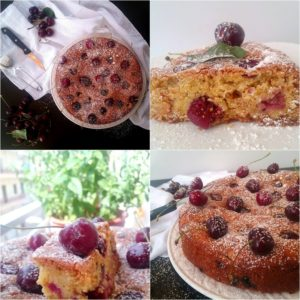 Vegan Κέικ με Κεράσια
